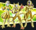 Froze, Rezok et Berserker (Super God Class-Up)