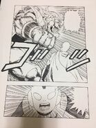 Lion Frieza Soldier against Saitama, Jaco screams by DragonGarowLee