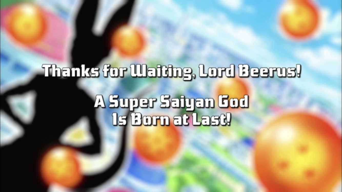 Thanks for Waiting, Lord Beerus! A Super Saiyan God Is Born at Last!