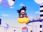 Goku llega a la ciudad