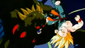Bio Broly attacks Trunks