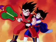 Goku y milk abanico