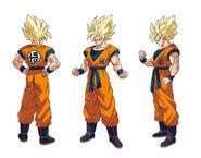 Goku SS diseño DBS Broly