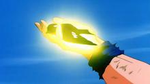 Goku healing a bird.png