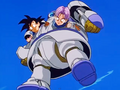 3. Bizu captures Goku and Trunks inside his body