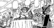 Dragon ball super manga cap 1 - gli abitanti del pianeta preparano le pietanze per beerus