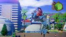 Goku riding a robot