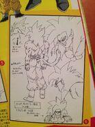 Bocetos de Goku SSJ4 N° 2