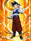 Dokkan Battle Return from Outer Space Goku card (Story Event New Enemies! Androids in Action - Yardrat Outfit Base Goku SSR-UR)