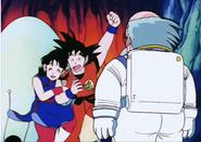 Goku y ChiChi encuentran al come fuego