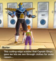 Xenoverse 2 - Burter says that Ginyu gave him a Scouter that can see through clothes