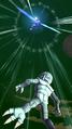 DB Legends Shallot (DBL00-01) Great Saiyaman 1 (DBL-EVT-05S) Justice Beam (Special Move Arts - Super Great Saiyaman Beam charging up)