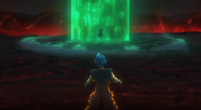 Broly se enfrenta a Goku