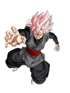 Goku Black Super Saiyajin Rosa Artwork