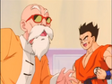 Yamcha and Master Roshi sense & feel Perfect Cell's completion's earthquakes