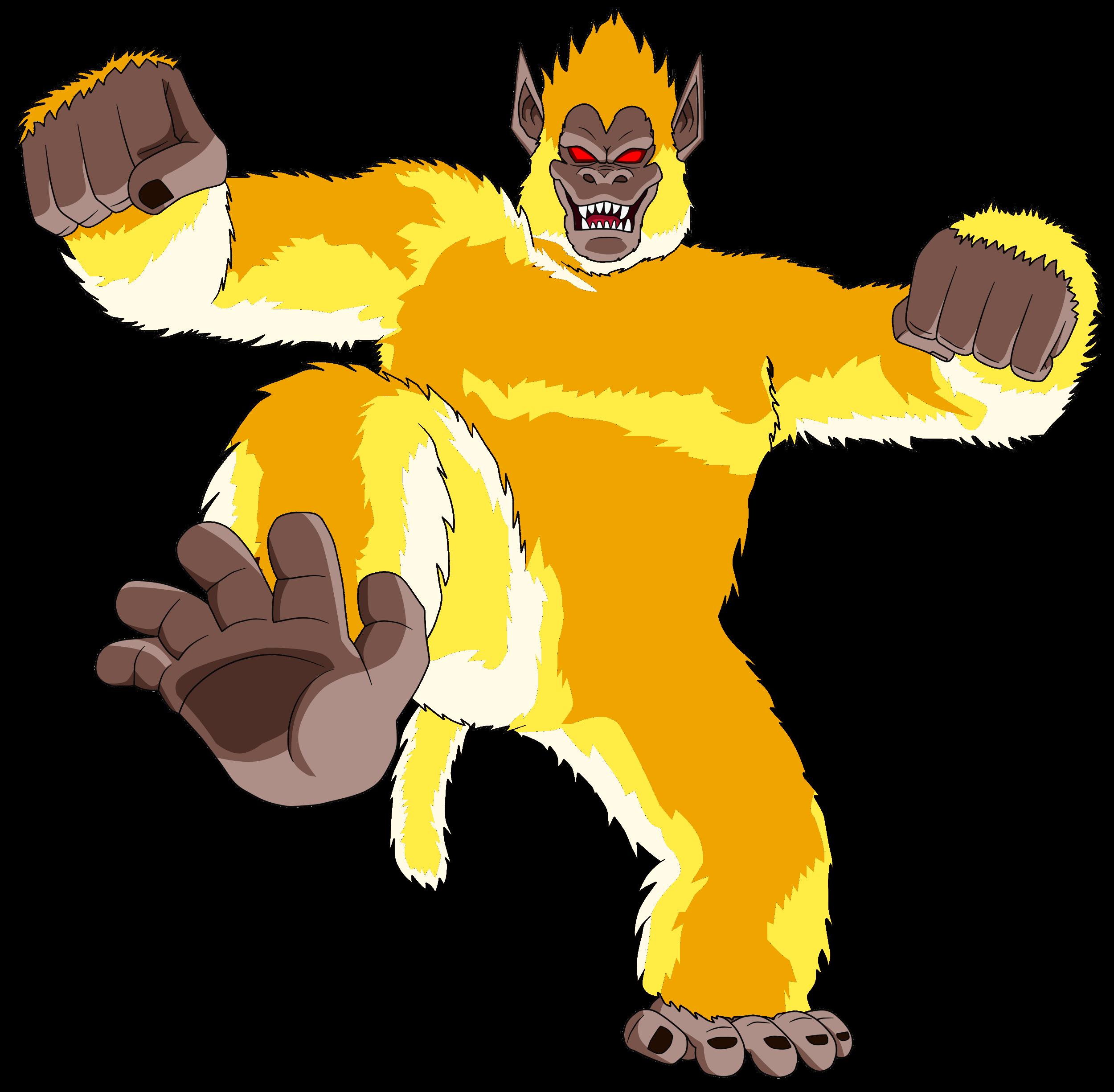 Vegeta Mono gigantesco dorado