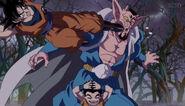 Goku y Krilin vs Dabra Bosque DBS