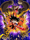Dokkan Battle Savage Power Goku (Youth) (Great Ape) card (Base Form SSR-UR)