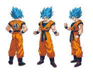 Goku SSGSS diseño DBS Broly