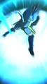 DB Legends Shallot (DBL00-01) Great Saiyaman 1 (DBL-EVT-05S) Justice Beam (Special Move Arts - Super Great Saiyaman Beam firing down)