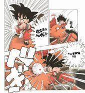 Goku hace el Piedra-Papel-Tijera por primera vez