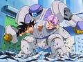 4. Bizu captures Goku and Trunks inside his body