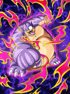 Dokkan Battle Boss Greedy Gluttonous Mutated Monster King Gurumes card (Curse of the Blood Rubies - Mutant Monster King Gurumes SSR)