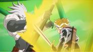 Shirasu contra Trunks