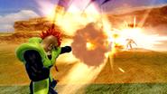 Androide Número 16 utilizando el ataque en Dragon Ball Zenkai Battle