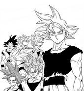Goku all forms by Toyotarou