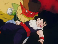 Salt about to elbow gohan in the stomach