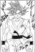 Super Saiyajin Dios goku vs hit manga