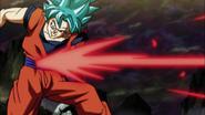 Jiren blasts Goku away