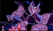 DXRD Caption of Fisshi witnessing Mecha-Frieza's electric body waves next to King Cold