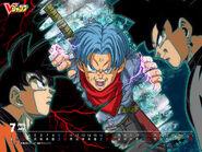 DBS V-Jump Wallpaper Goku Trunks Goku Black