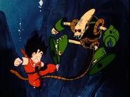Robot Pirata vs Goku