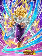 Dokkan Battle Unmeasurable Super Combat Power Super Saiyan 3 Gohan (Teen) card (SDBH Demon Clothes)
