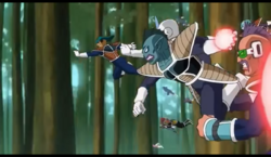 Frieza soldiers about to blast Krillin from behind, Resurrection 'F', IsraeliteVIP pic snap.png