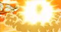 Piccolo blasting Raditz