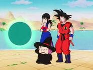 EP149DB Baba junto a la Princesa Chi-Chi y Goku