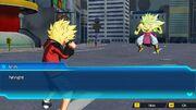SDBH World Mission Ch3, Sub Ch4 Super Saiyan Beat (Saiyan-Earthling Hybrid) VS Broly (Legendary Super Saiyan 3).jpg