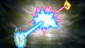 Goku and Frieza's Attacks Clash