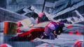 Trunks hugging Gohan's dead body