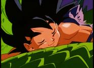 Goku yéndose con Shenlong