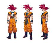 Goku SSG diseño DBS Broly