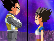 Vegeta and Cabba master and student