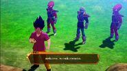 DBZ Kakarot - Frieza Force remnants (2 Appule's race bouncers) attack Badman Vegeta 1