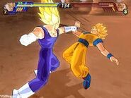Majin Vegeta vs Goku ssj2 BT3