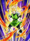 Dokkan Battle Shining-Gold Justice Great Saiyaman (SS2) card (Super Saiyan 2 Great Saiyaman Unmasked SSR-UR)