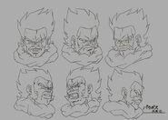 Sketch DBZ11 Paragas (caras)
